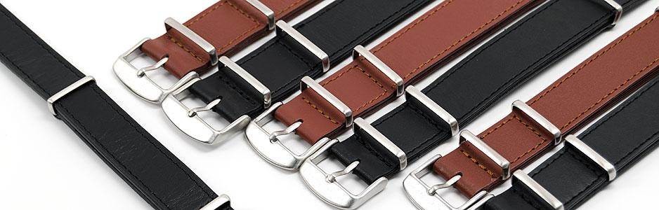 LEATHER NATO STRAP-IN-VARIOUS-COLOURS&SIZES-TOP
